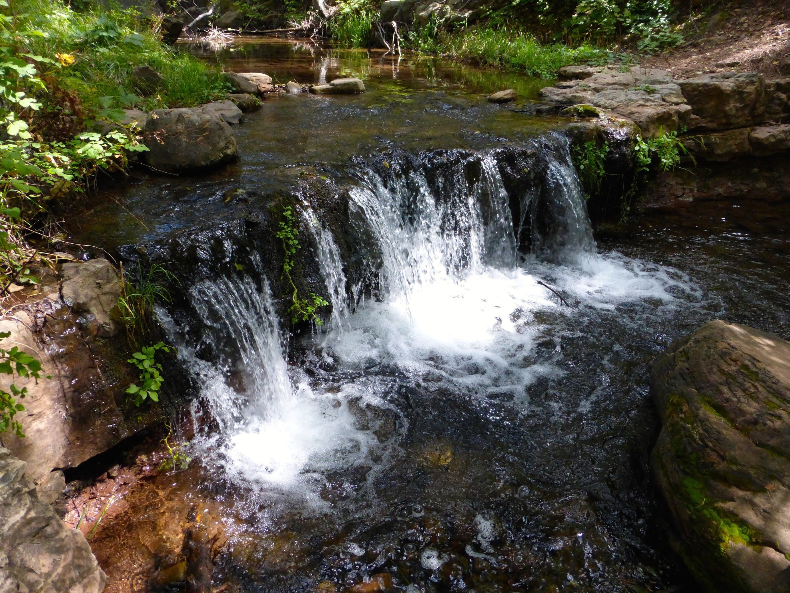 A series of cascades and mini-falls add a touch of musicality to Horton Creek, east of Payson.