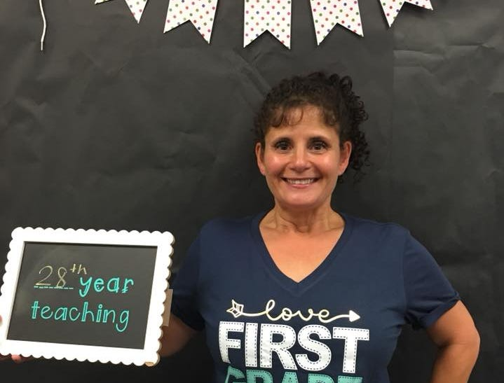 Jenny Beutner, a first-grade teacher at Kyrene de la Paloma Elementary School in Chandler, has been teaching for 28 years.