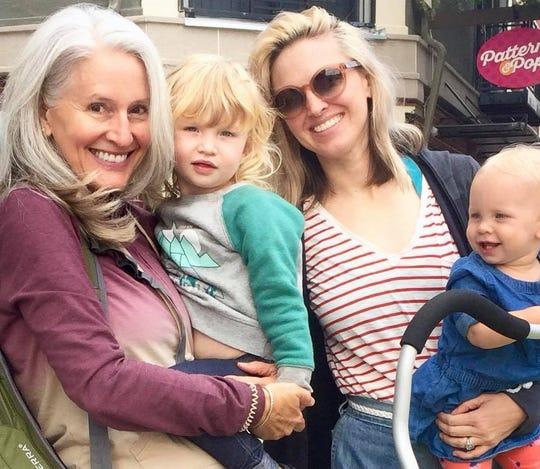 Maren Showkeir with granddaughter Audie, daughter Sonnet and granddaughter Iris.