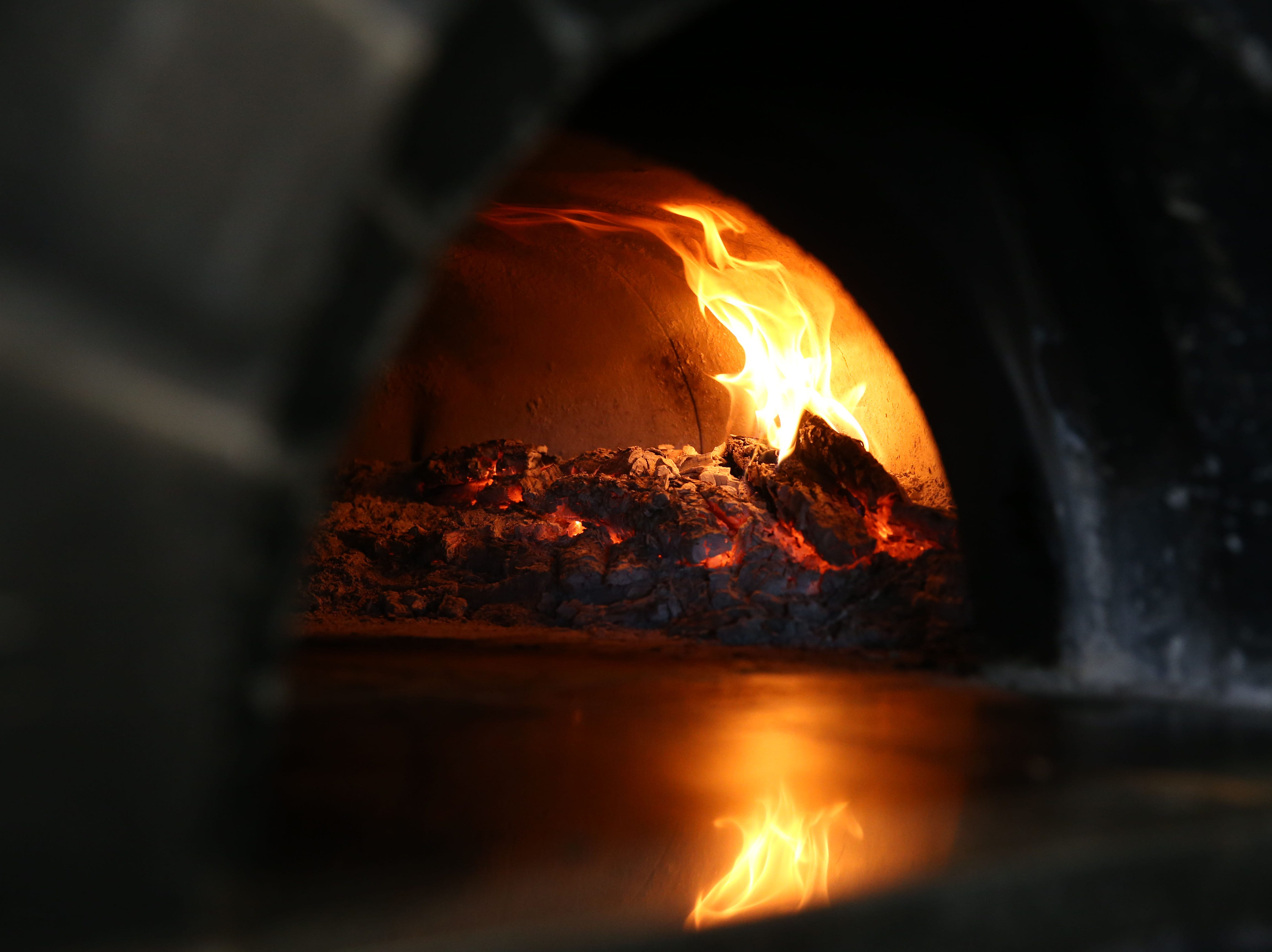 Wood-fired oven at Roland's Cafe Market Bar on Aug. 20, 2018, in Phoenix, Ariz.