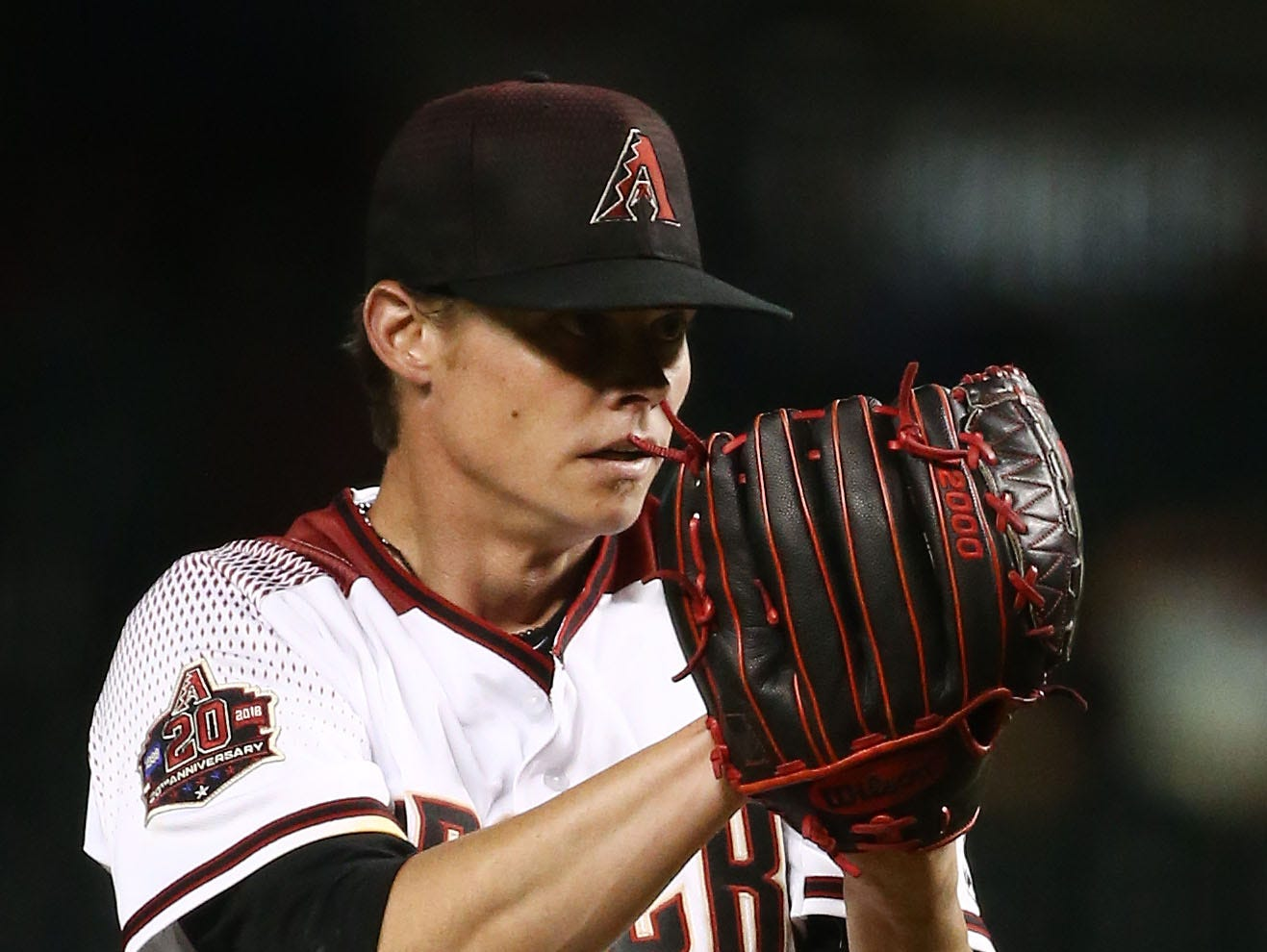 Arizona Diamondbacks pitcher Clay Buchholz throws to the Los Angeles Angels in the first inning on Aug. 22, 2018, at Chase Field in Phoenix, Ariz.