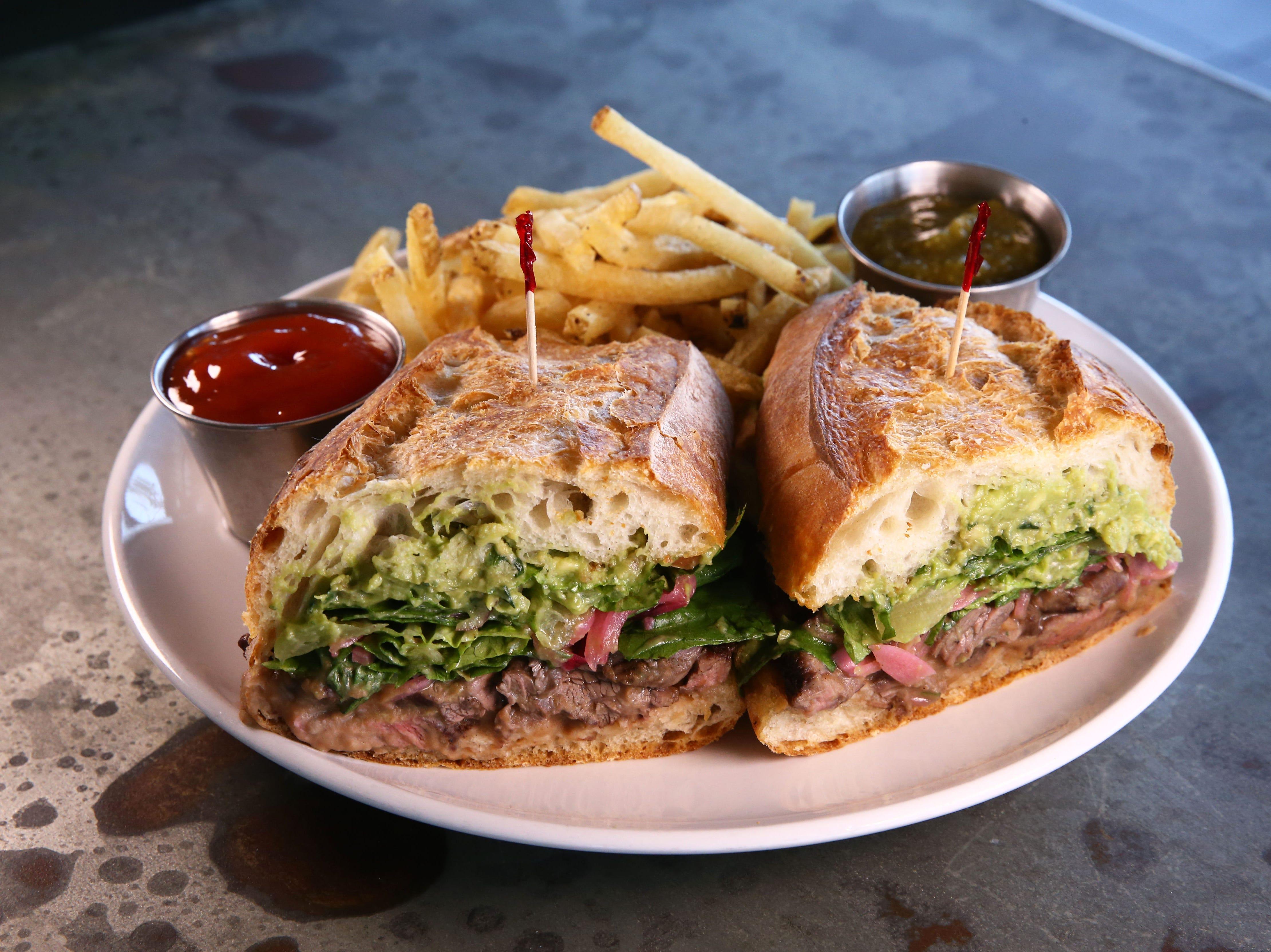Carne Asada Sandwich at Roland's Cafe Market Bar on Aug. 20, 2018, in Phoenix, Ariz.