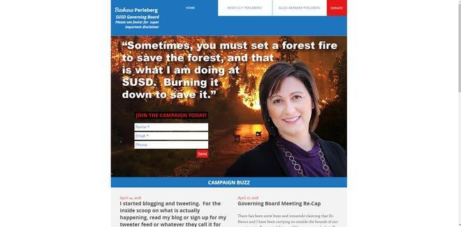 A parody site targets Scottsdale Unified School Board President Barbara Perleberg.