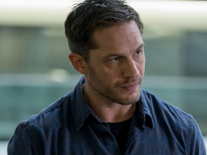 "Eddie Brock (Tom Hardy) in Columbia Pictures' ""Venom"" (Oct. 5)."
