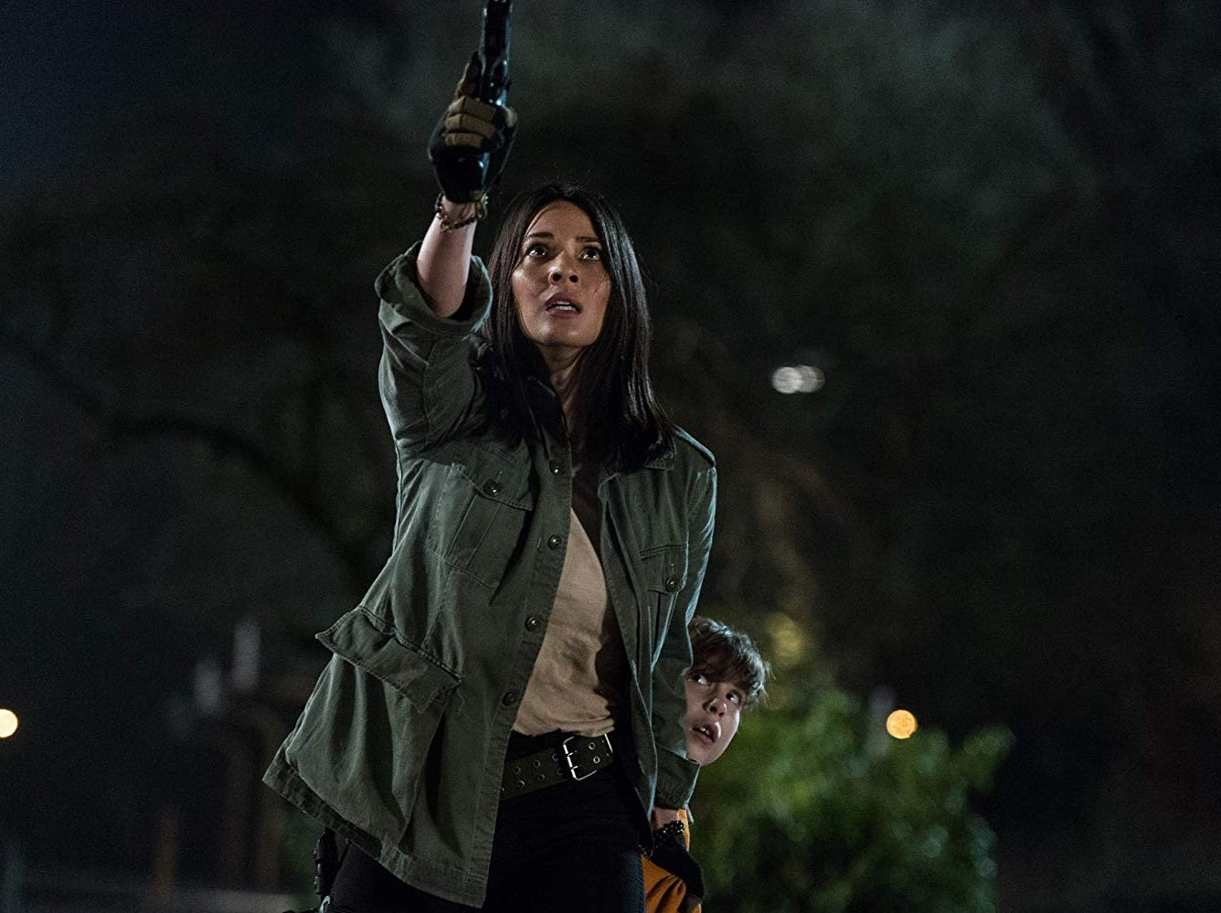 "Olivia Munn and Jacob Tremblay in ""The Predator"" (Sept. 14)."