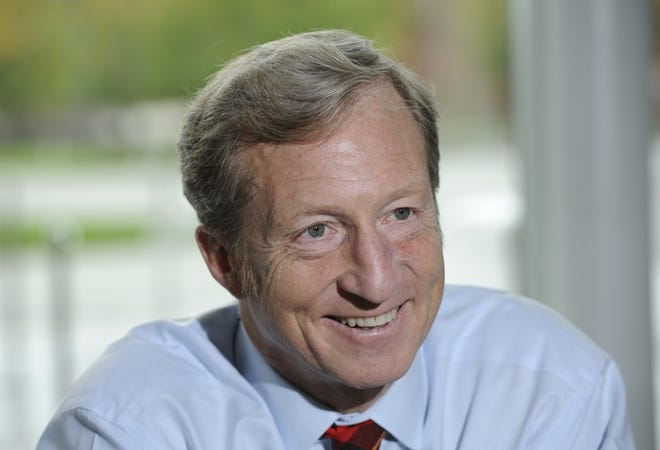 Tom Steyer,an activist andfounder of NextGen America, sayshe is spending a lot of timeand money in Arizona to help save democracy in the era of Trump, while trying to alter Arizona's electorate in a lastingway.