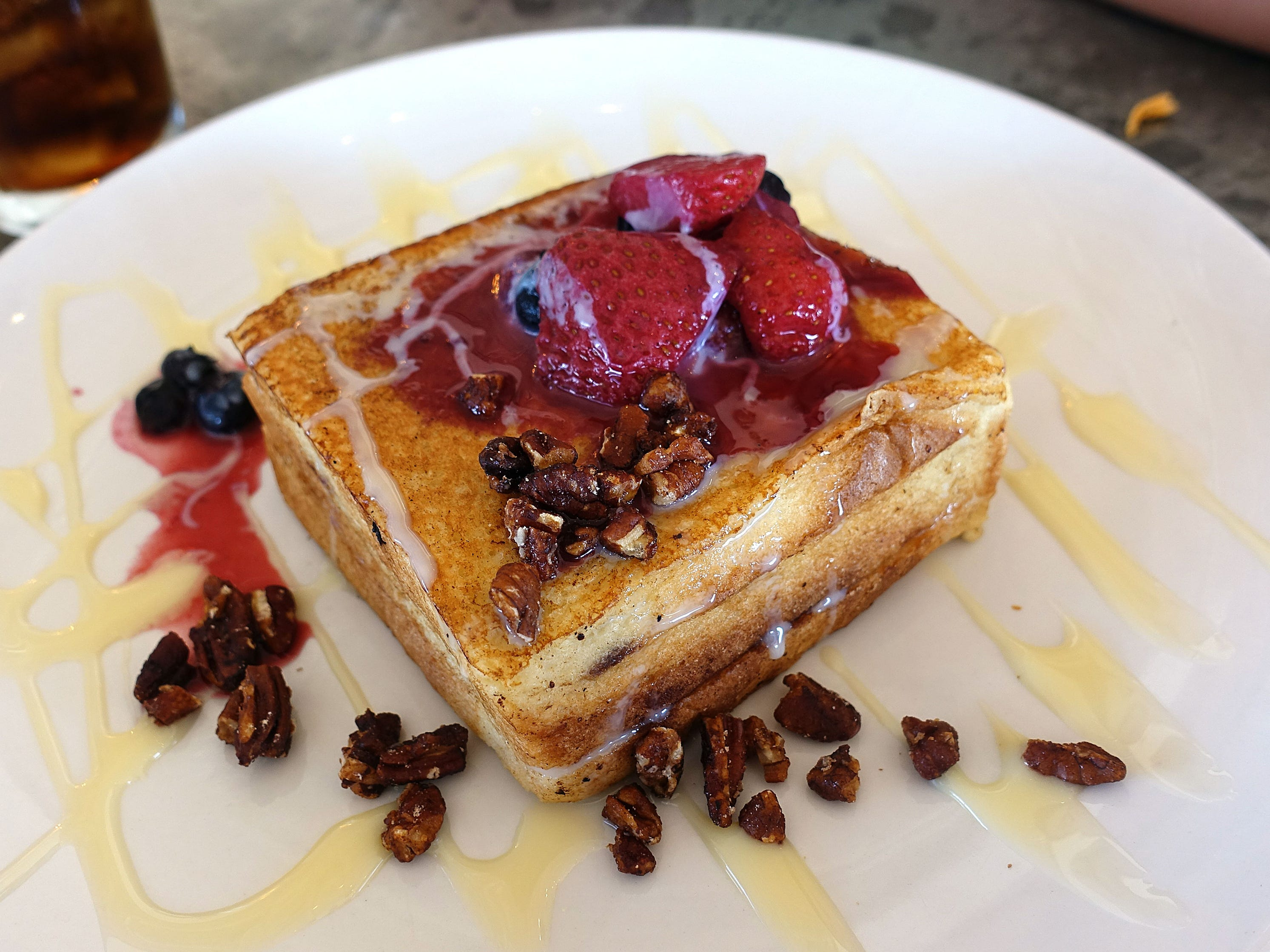 Bob's French toast with Nutella and berry compote at Roland's Cafe Market Bar.