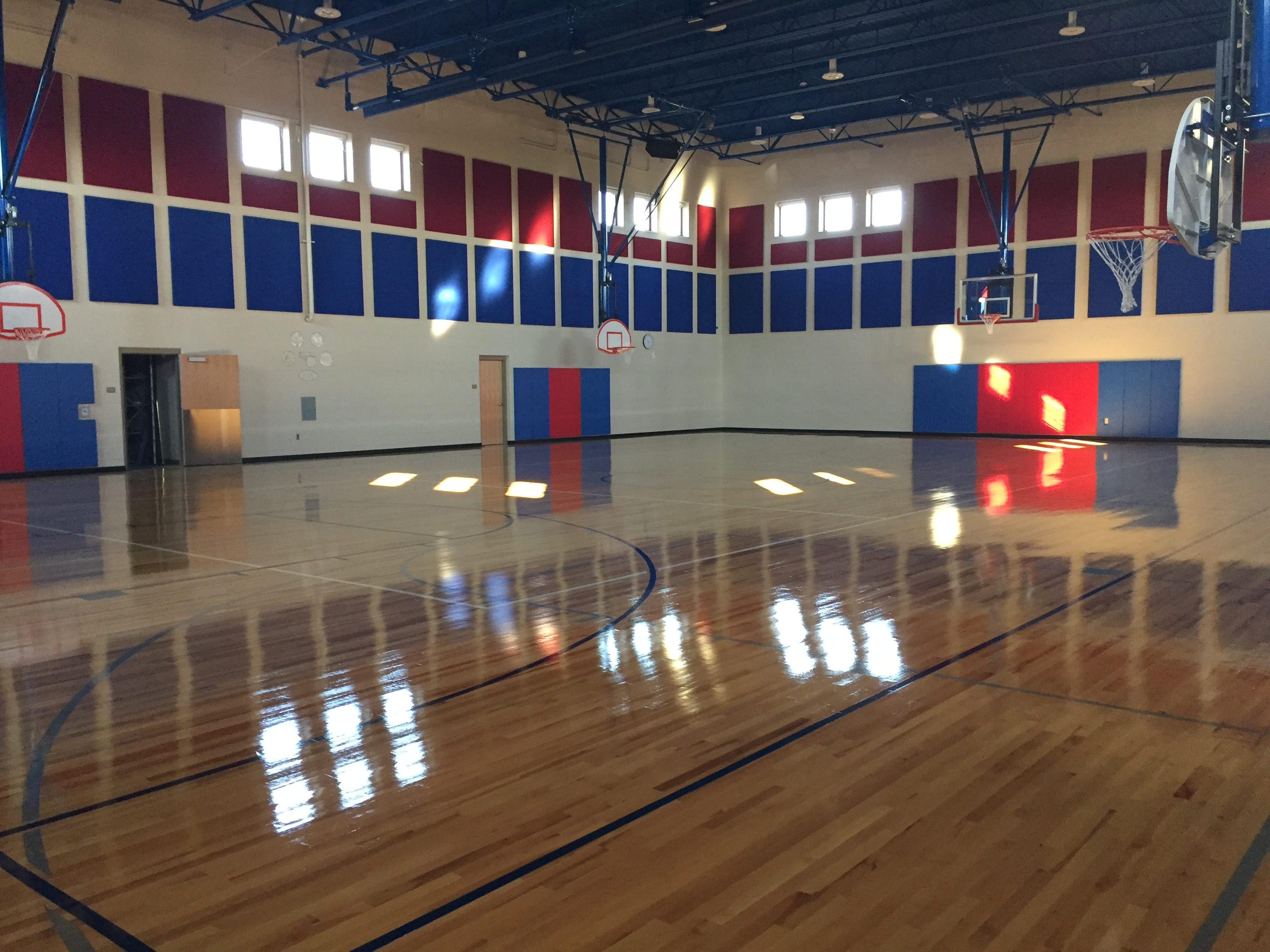 The gymnasium in Lebanon School District's new Northwest Elementary School Aug. 23, 2018.