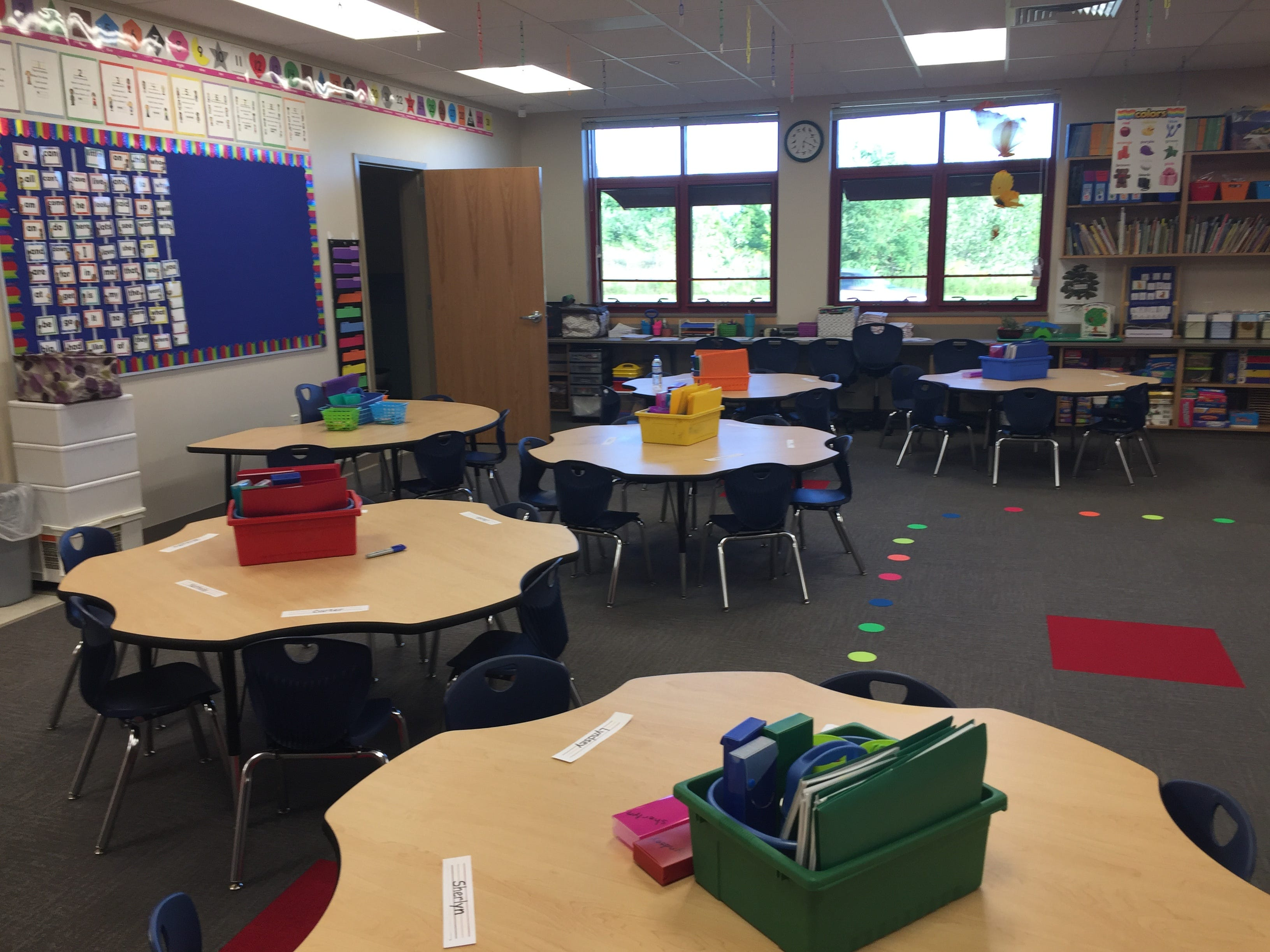 A classroom in the new Northwest Elementary School Aug. 23, 2018. All classrooms are equipped with a voice amplification system and plenty of windows to provide natural lighting.