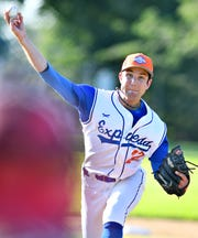 Hallam's Matt Ruth pitched a three-hit complete game in a 2-1 win over East Prospect on Thursday. Dawn J. Sagert.