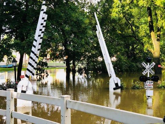 Flooding and rain led Dutch Wonderland to close on Wednesday, Aug. 22, 2018.