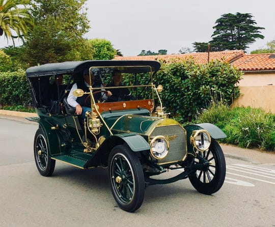 This family has a point to make: nothing beats motoring along in a 1911 Pierce-Arrow 48-Ss 7 Passenger Touring. Each Thursday preceding the Pebble Beach Concours d'Elegance a select few of the show participants take part in the Tour d'Elegance- a scenic romp around the Monterey Peninsula that allows the public at large to see some of the finest cars in the world being driven on public roads.