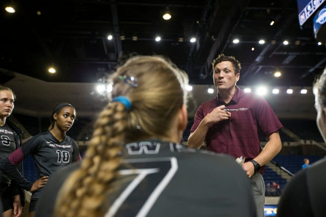 Trevor Callarman is the new head coach of the UMES volleyball team.