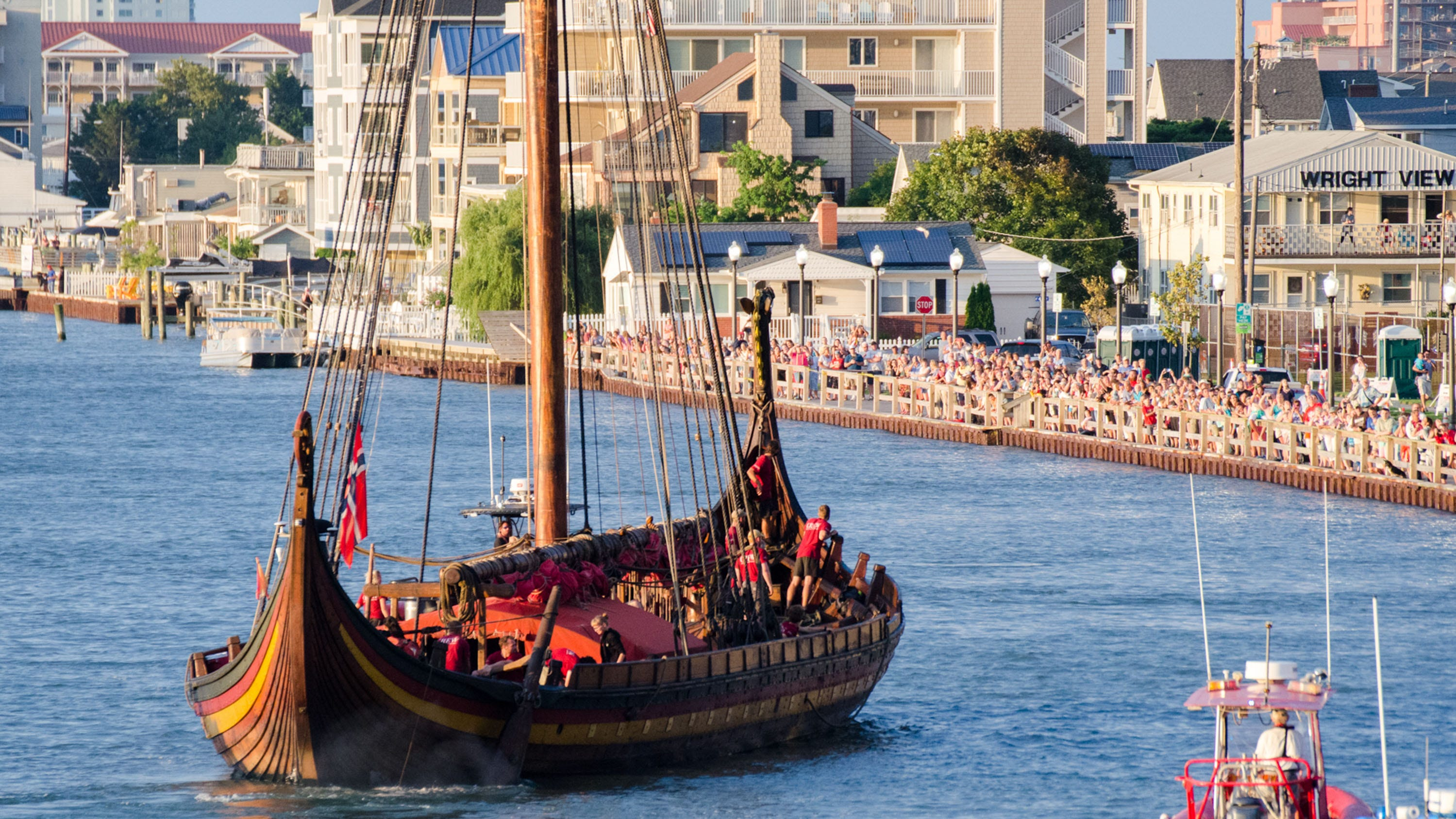 Viking ship coming to Cape Charles