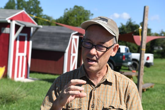 Eric Walter, president and chief composting officer of Black Bear Composting, talks about their operations during an interview in Crimora on Thursday, August 23, 2018.