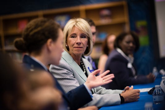 U S Secretary Of Education Betsy Devos Toured Prince William County Public Schools Ashland Elementary On Tuesday April 25 2017 About Thirty Five Percent Of The School Are Military Families Principal Andy Jacks Led Classroom Tours And The Secre