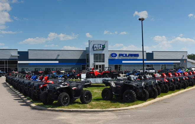 Mies Outland is shown Wednesday, Aug. 22, at 3653-32nd St. SE in St. Cloud. There is also a Mies Outland In Watkins. The dealerships sell ATVs, motorcycles, snowmobiles and accessories.