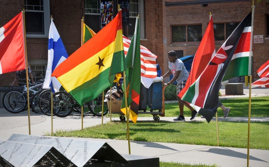 Students move in to Lawrence Hall Thursday, Aug. 23, at St. Cloud State University.