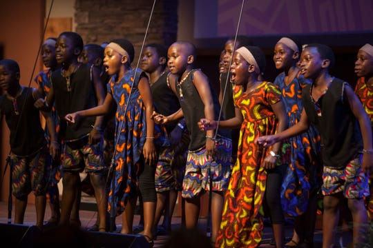The African Children's Choir performs at the Calvary Chapel in St. George Wednesday, Aug. 22, 2018.