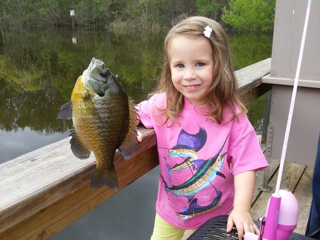 Claire Lawler with a fine panfish.