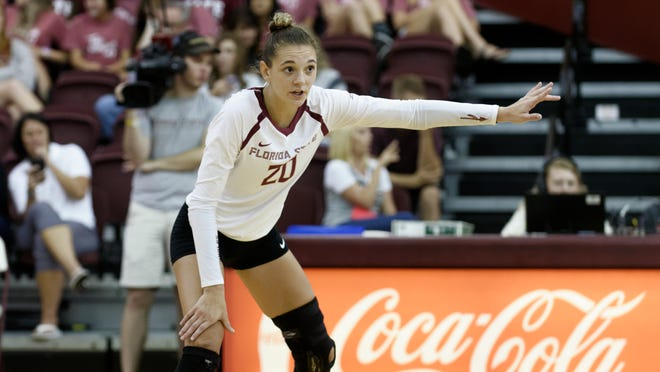 Senior libero Kelsey Wicinski is a new addition to this year's FSU roster after spending three years at Maryland.