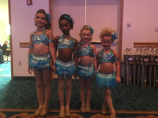 From left: Lily Acevedo, Brielle Charles, Hannah Walsh, and Alexis Gonzales.