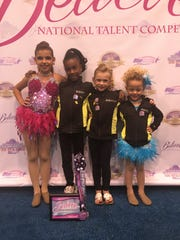 From left: Lily Acevedo, Brielle Charles, Hannah Walsh, Alexis Gonzales.