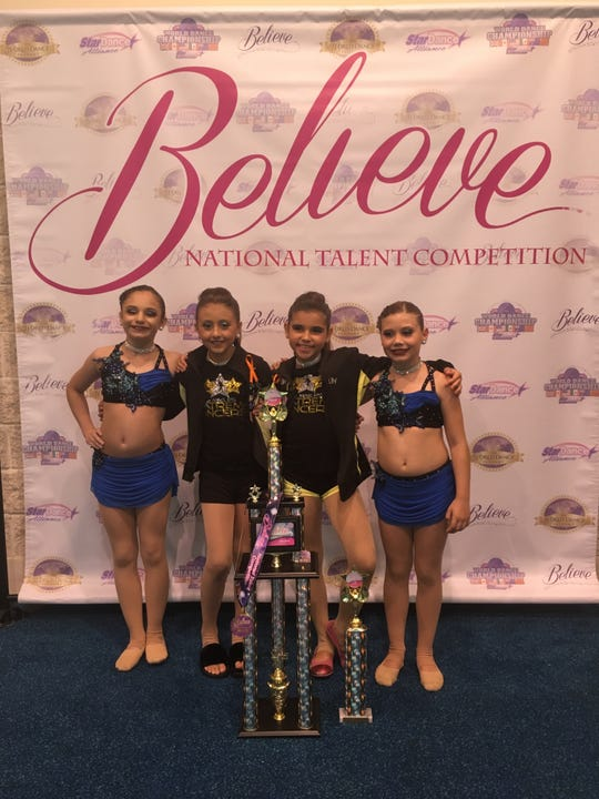 From left: Angelica Moley, Isabella Porcelli, Lily Acevedo, and Madeleine Mahaney.
