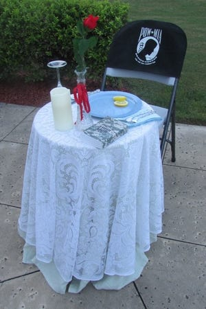 The Missing Man Table, also known as the Fallen Comrade Table, is a place of honor, set up in military dining facilities of the U.S. armed forces and during occasions such as service branch birthday balls, in memory of fallen, missing, or imprisoned military service-members.
