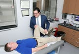 Dr. Michael Gott, an orthopedic surgeon at White Plains Hospital, performed hip arthroscopy on patient Chris Ramondelli, 22, of New Rochelle after an ice hockey injury.