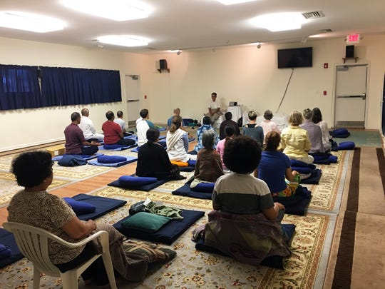 A meditation session at the Mid Atlantic Vipassana Meditation Center (Dhamma Pubbananda) in Claymont, which was purchased in 2013.