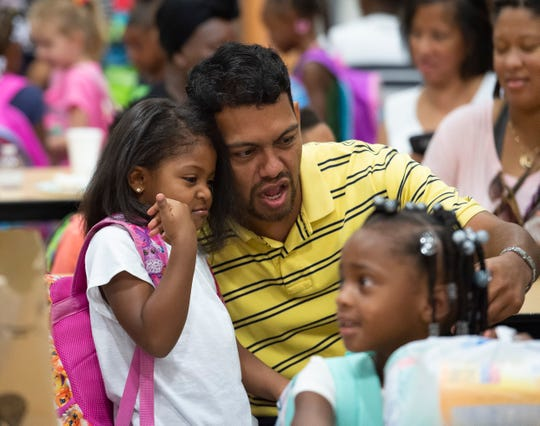 Students and parents at the Boo Hoo Breakfast at South Dover Elementary in Dover. Principal Jeff Sheehan said the breakfast is part of the school's efforts to be sensitive to the stress of parent-child separation.