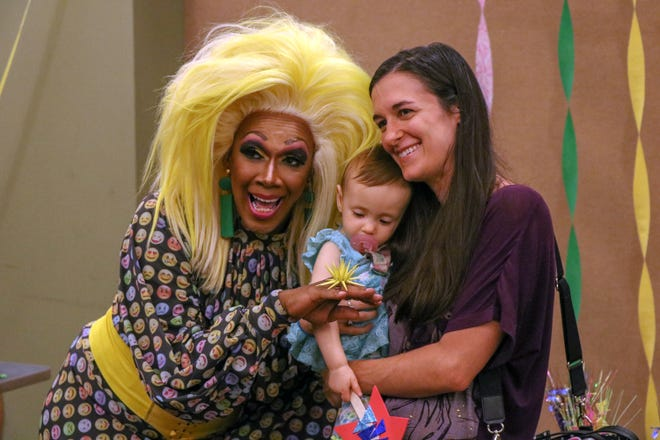 Residents of Rahway, New Jersey, fought intolerance by bringing their kids to Drag Queen Story Hour at Rahway Public Library on Aug. 21, 2018. More than 50 people were at the event, even after anonymous protesters put inflammatory fliers in several mailboxes.