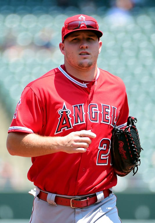 Mlb Los Angeles Angels At Baltimore Orioles Mike Trout