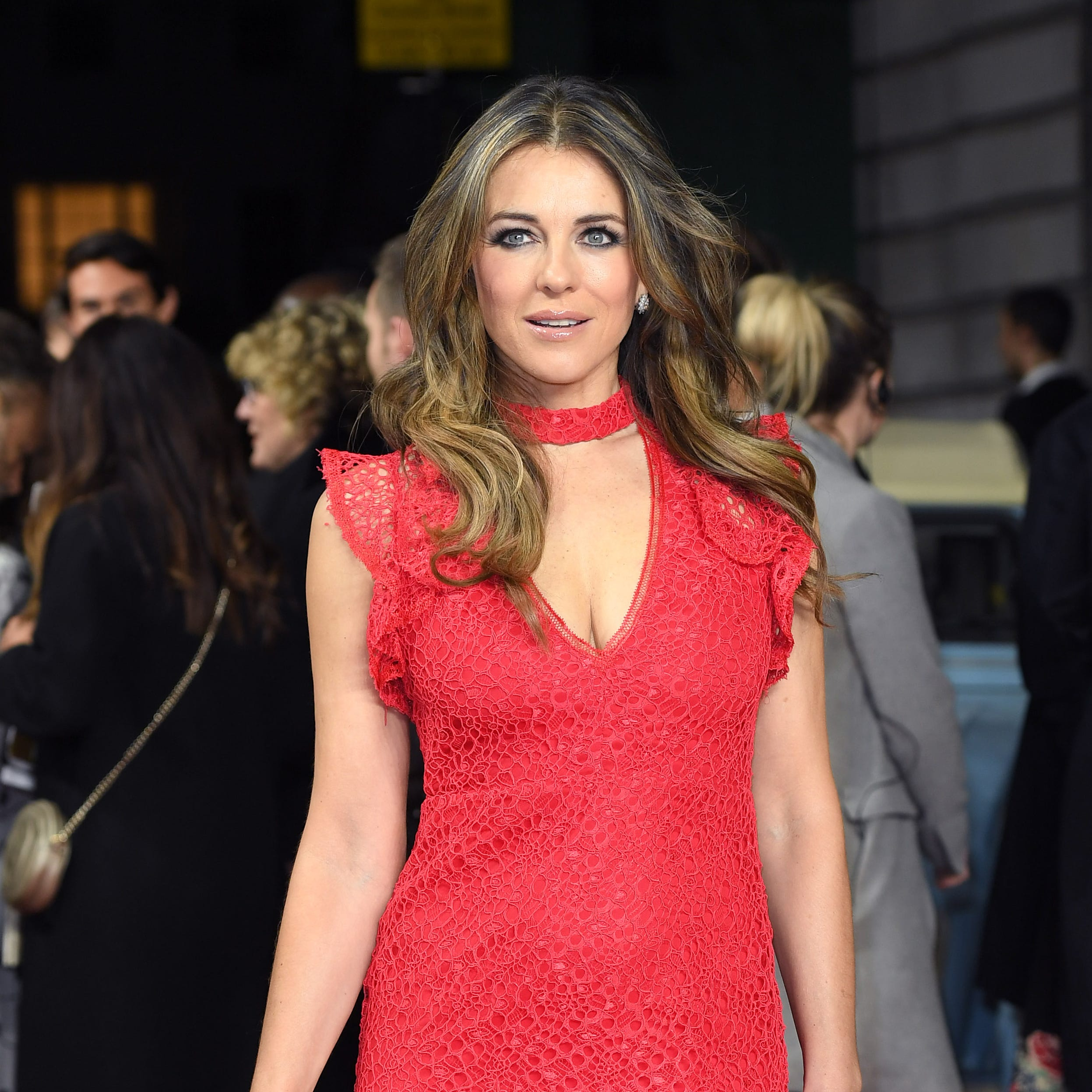 Elizabeth Hurley attends the World Premiere of 'The Time Of Their Lives' on March 8, 2017 in London.