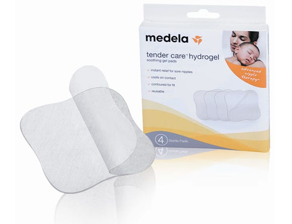 Medela hydrogel pads help relieve sore nipples.