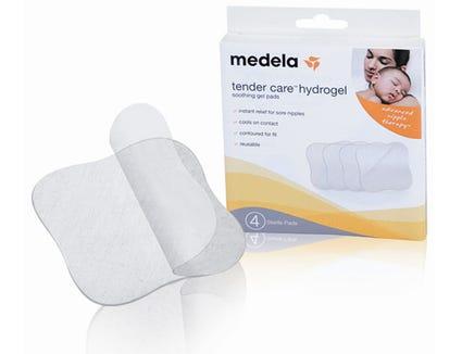Medela hydrogel pads help relieve sore nipples.