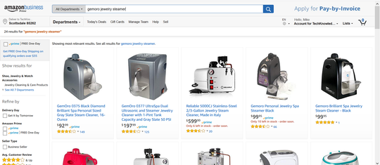 Searching on Amazon's own site did not show the $85 version in one of the first results.