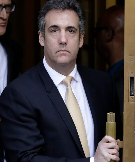 Epa Epaselect Usa Michael Cohen Clj Politics Trials Usa Ny