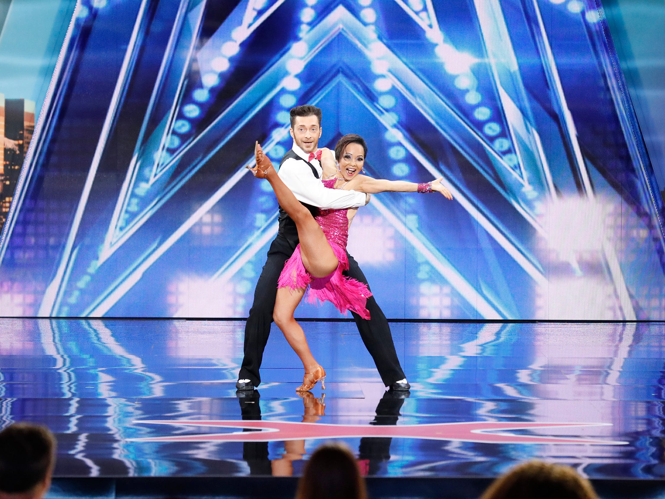 Dance pair Quin and Misha earned the Golden Buzzer from guest judge Martina McBride