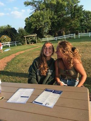 Lauren Laabs, 26, left, and her sister Cassie Laabs, 20, both of Neenah.