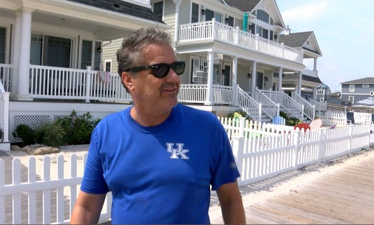 University of Kentucky basketball coach John Calipari takes a walk along the Lavallette boardwalk Friday, August 17, 2018, where he has a home with his wife.