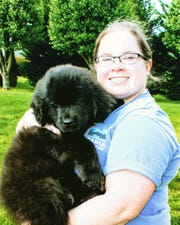 Fletcher resident Lexie Autrey and her Newfoundland, Ellie, have been together about 18 months. Autrey used a shock collar for training for several weeks, but she never got comfortable with it.