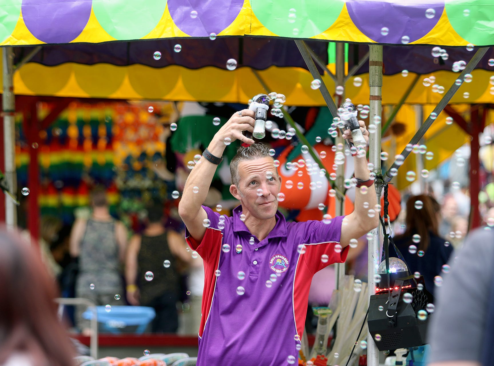 Bubbles on the Midway at the Kitsap County Fair & Stampede on Friday, August 24, 2018 at the Kitsap County Fairgrounds.