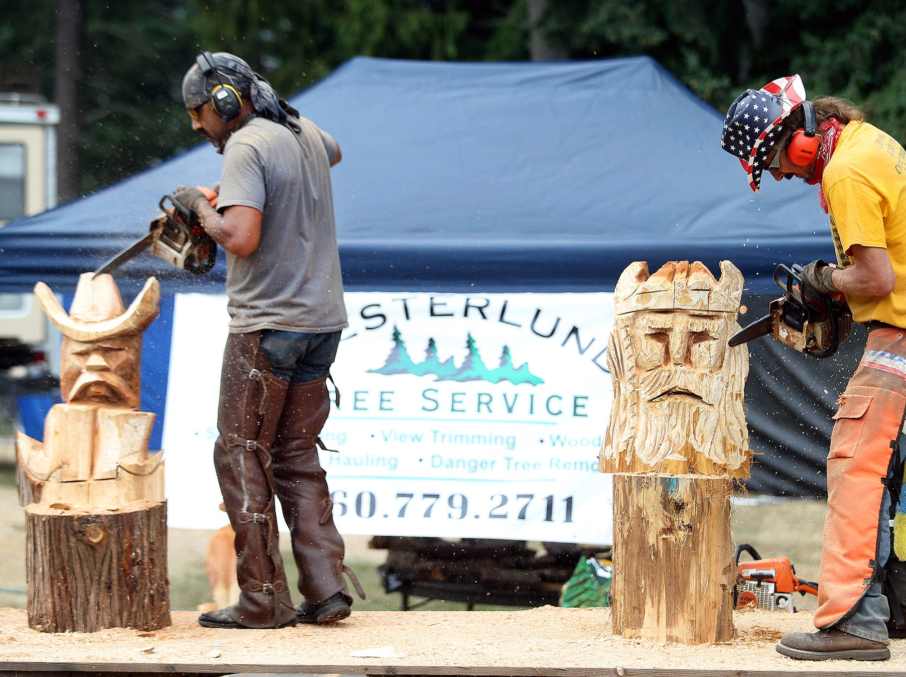 The Big Shot Woodcarvers Show at the Kitsap County Fair & Stampede on Friday, August 24, 2018 at the Kitsap County Fairgrounds.