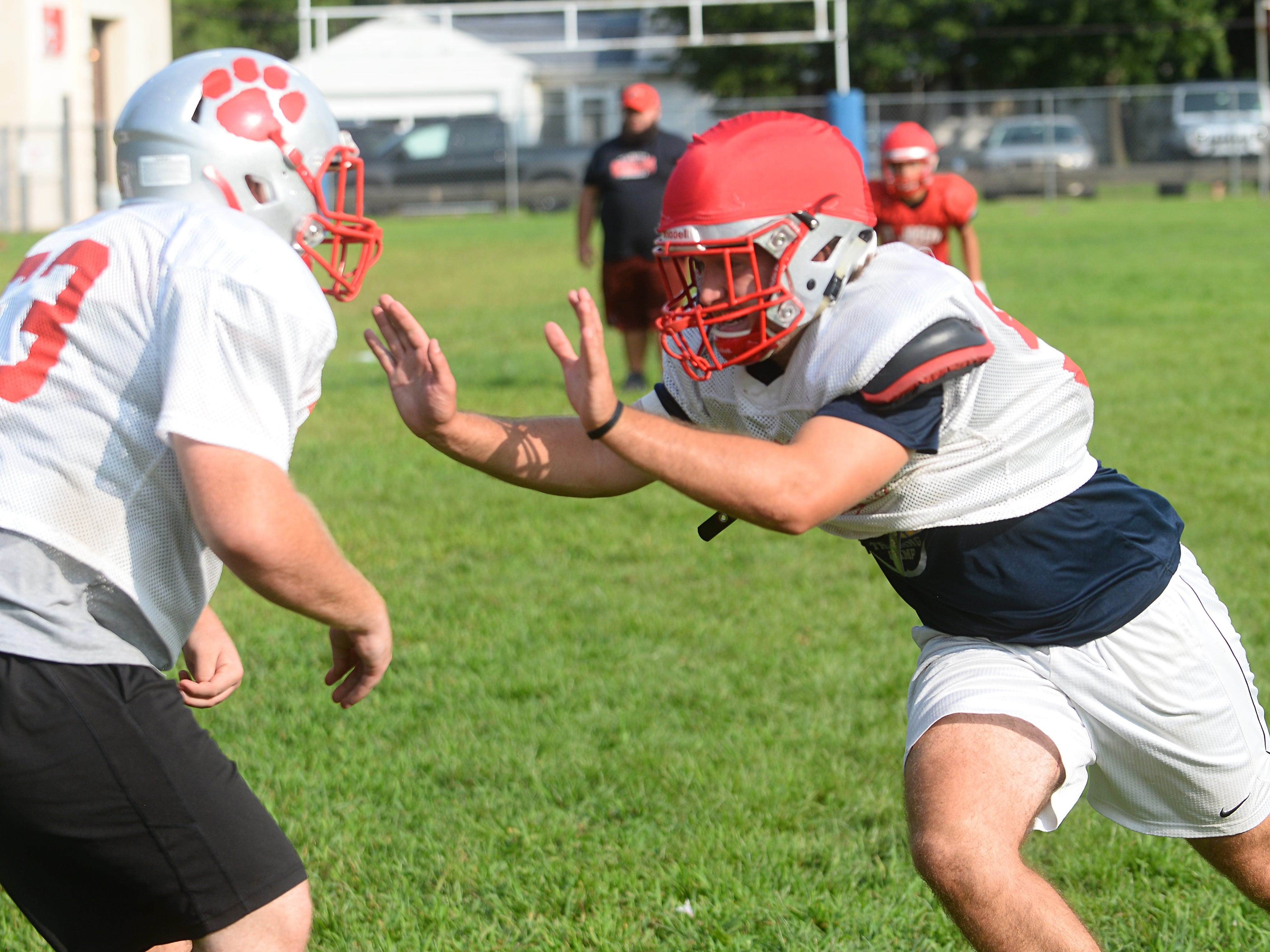 St. Joseph looks to bring another state title back to Hammonton following a 12-0 season in 2017. The Wildcats run through offensive and defensive conditioning drills during practice on Wednesday, August 23.
