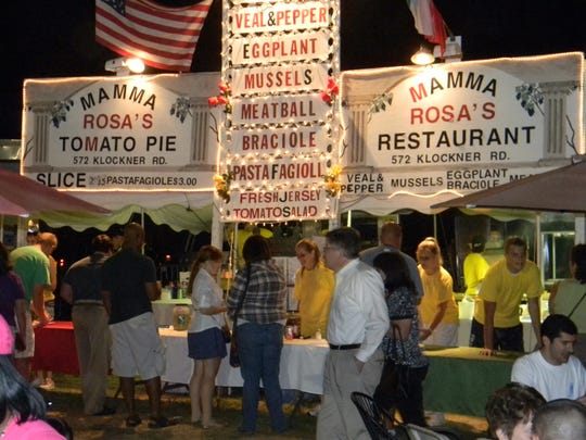 Mama Rosa's  Restaurant and Tomato Pie offers an Italian menu at a recent Mercer County Italian American Festival. The restaurant is returning when the annual festival comes next month to a new location at the Burlington County Fairgrounds.