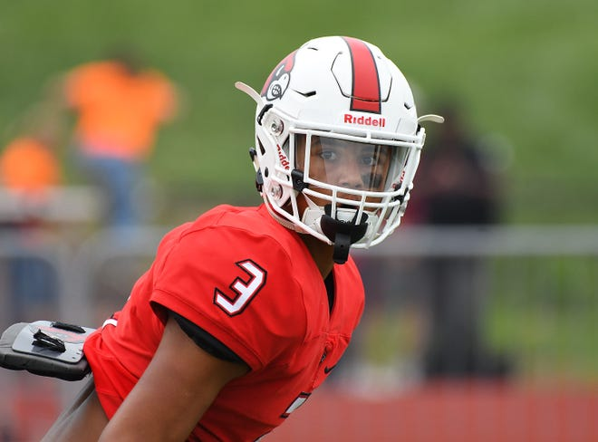 Colerain defensive back Deshawn Pace warms up for their game against La Salle in the Skyline Chili Crosstown Showdown, Colerain Township, Friday August 24, 2018
