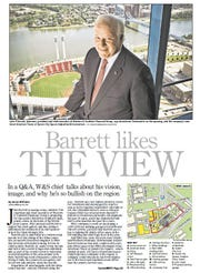 Western & Southern CEO John Barrett during a 2012 interview with The Enquirer