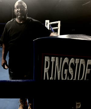 Richard 'Hardface' Mason at his gym in Northside.